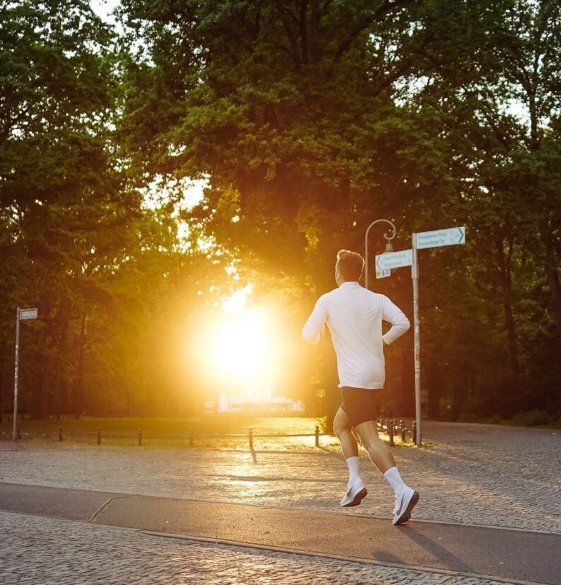 running sun