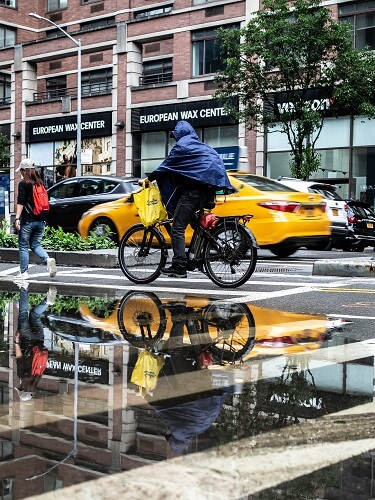 bycicle in rain