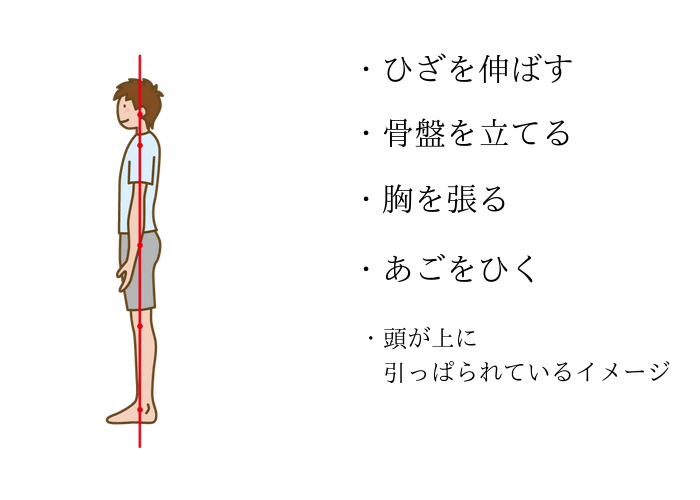 correct standing man
